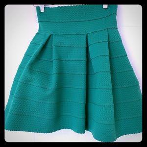 Green bubble skirt